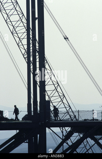 Workers on an Oil Rig - Stock-Bilder