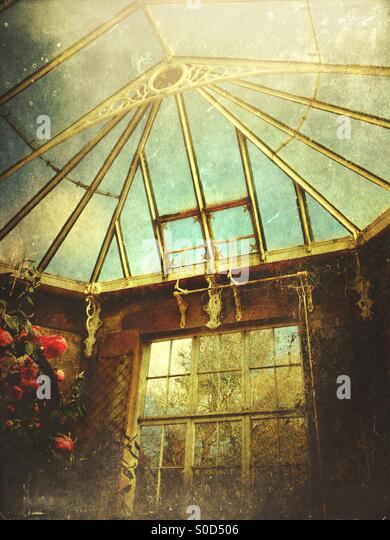 Old fashioned greenhouse - Stock Image