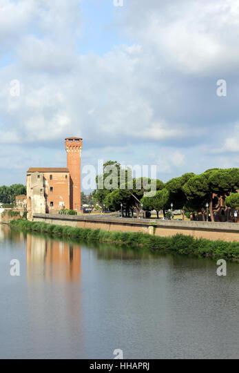 cittadella / fortress / castle in pisa (tuscany) - Stock Image