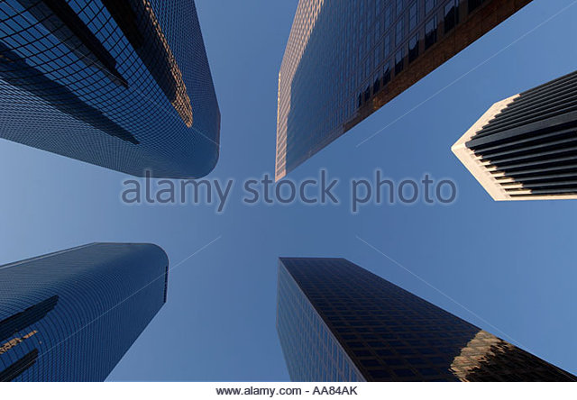 Low angle view of highrise buildings - Stock Image