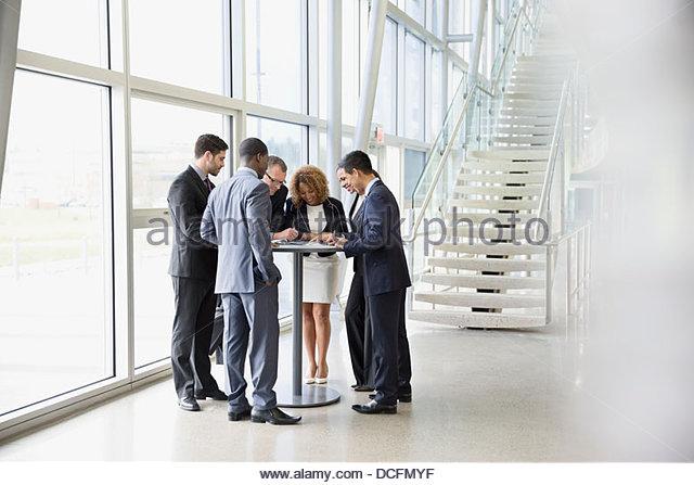 Business team brainstorming ideas - Stock Image