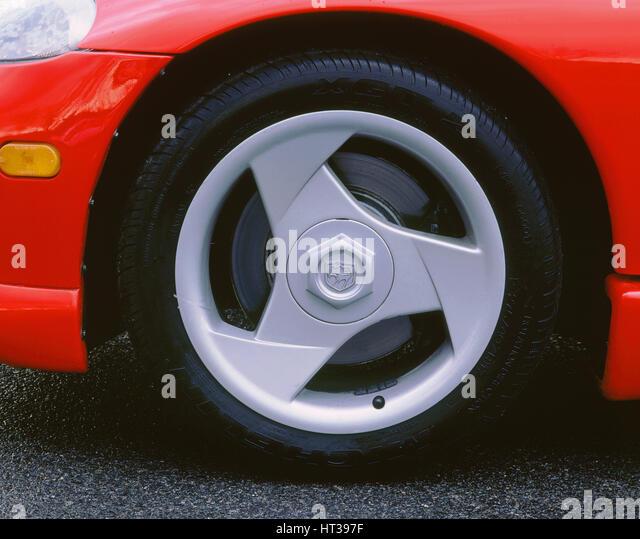 1993 Dodge Viper alloy wheel. Artist: Unknown. - Stock Image