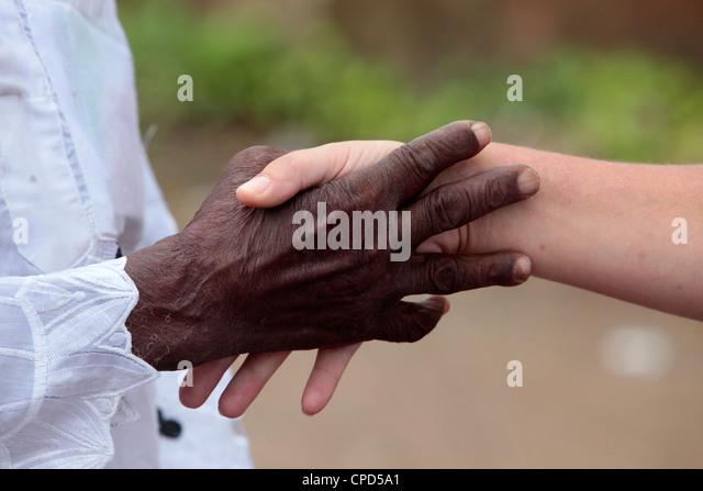 Handshake, Lome, Togo, West Africa, Africa - Stock-Bilder