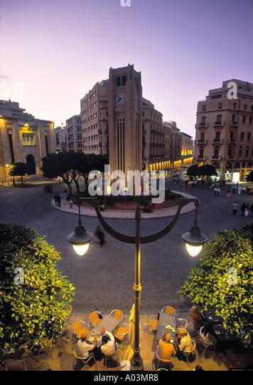 Place d'Etoile, Beirut, Lebanon - Stock Image