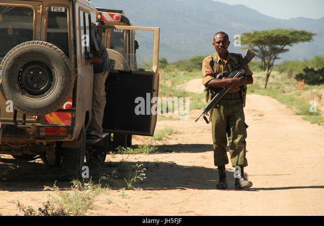 Loyangalani to Isiolo via Baragoi by road - Tourism in Kenya The journey to Isiolo by road began at Nairobi at 9am. - Stock Image