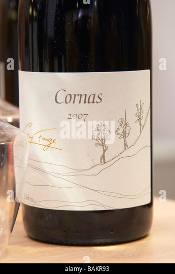 cornas 2007 domaine guy farge rhone france - Stock Image