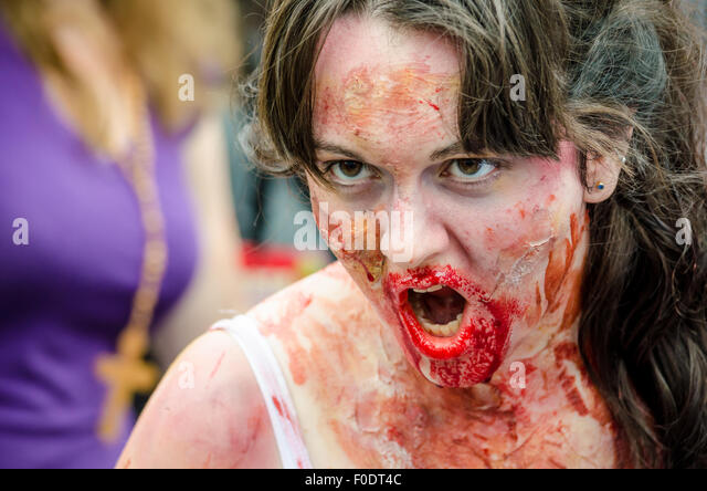 Zombie walk event in Montreal, 2012 - Stock Image