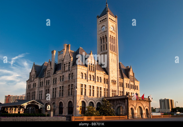 Union Station Hotel - a converted train station, Nashville Tennessee USA - Stock Image