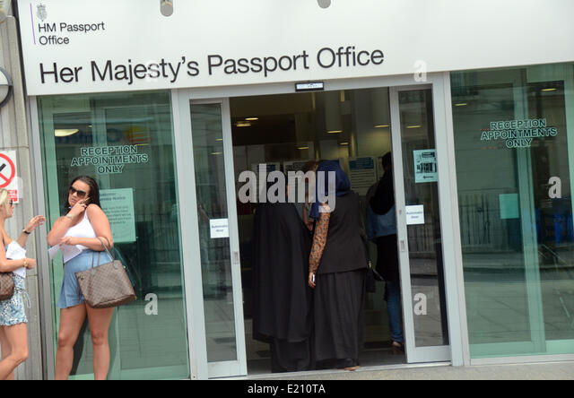 at the passport office in london stock photos at the. Black Bedroom Furniture Sets. Home Design Ideas