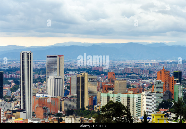 View of the skyline of Bogota, Colombia - Stock Image