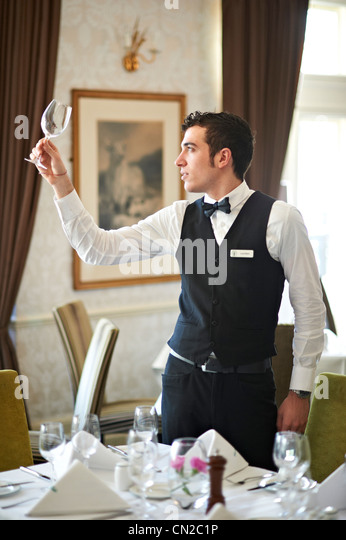 Waiter - Stock Image