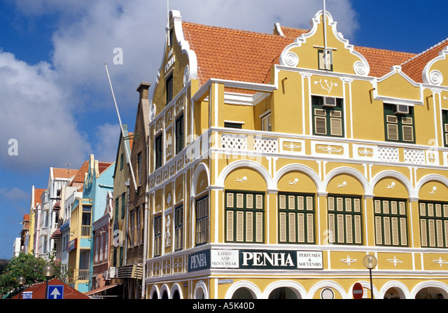Curacao Willemstad Penha Building 1708 national symbol iconic image - Stock Image