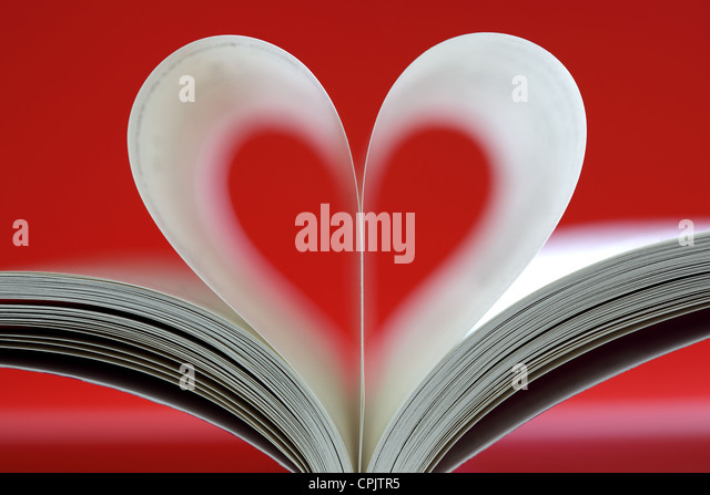 Heart shaped book - Stock-Bilder