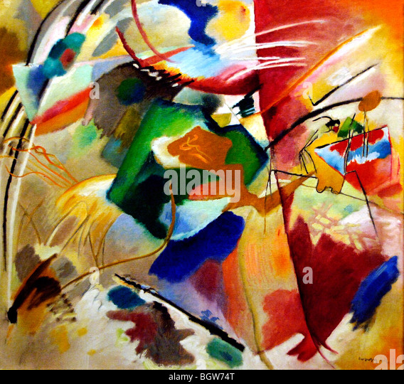 Vasily Kandinsky Painting with Green Center 1913 - Stock Image