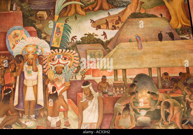 Diego rivera national palace stock photos diego rivera for Diego rivera mural 1929