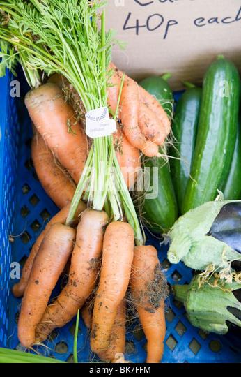 Organic vegetables - Stock Image
