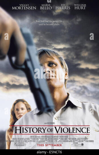 A HISTORY OF VIOLENCE, U.S. advance poster, from back: Maria Bello, Viggo Mortensen, 2005, © New Line/courtesy - Stock Image