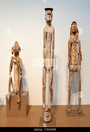 Ancestor figure Asmat People New Duinea Papua Irian Jaya Indonesia - Stock Image