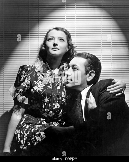 YOU AND ME  1938 Paramount film with Sylvia Sidney and George Raft - Stock Image