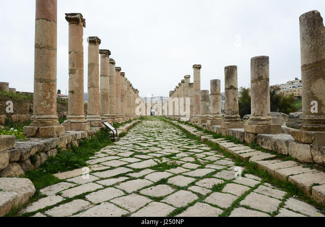 The ancient Roman city of Jerash in Jordan. - Stock Image