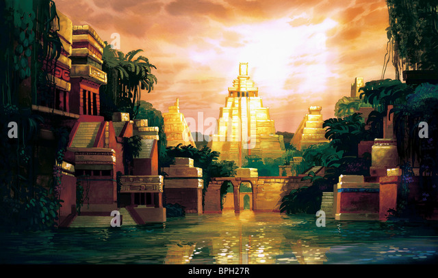 ANCIENT GOLD TEMPLE THE ROAD TO EL DORADO (2000) - Stock Image