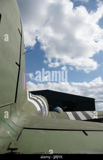 C-47, Dakota, D-day paratrooper transport aircraft - Stock Image