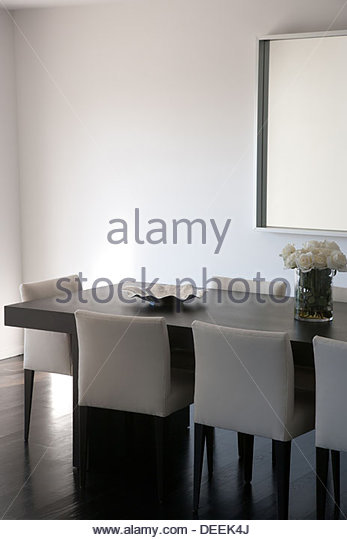 Interior of modern dining room - Stock Image