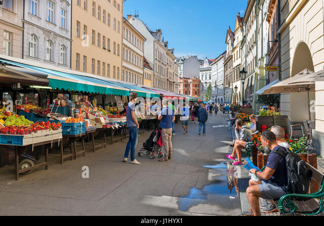 Prague, Old Town. Havelska Market (Havelske trziste), Prague, Czech Republic - Stock Image