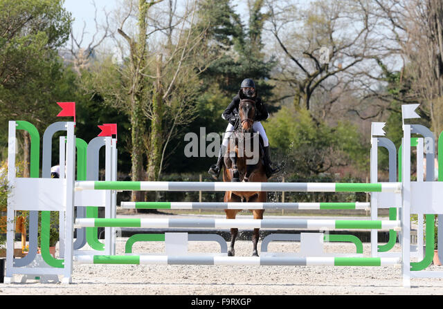 Equestrian show jumping. - Stock Image