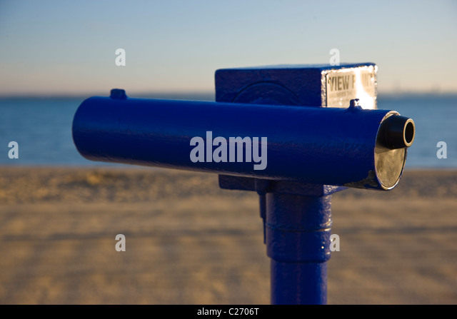 Stationary Viewer on Beach - Stock Image