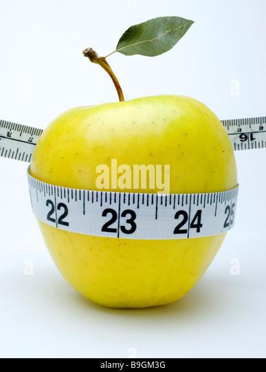 apple tape measure - Stock Image