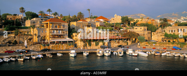 Harbour, Byblos, Nr. Beirut, Beirut, Lebanon - Stock Image