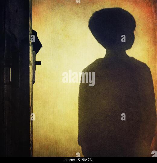 Child's shadow - Stock-Bilder