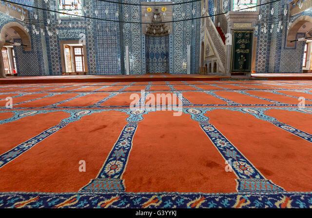 Rustem Pasha Mosque in Istanbul, Turkey - Stock Image