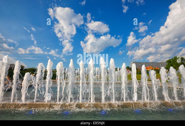 Zagreb water fountain - Stock Image