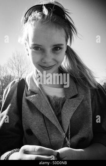 A very happy girl - Stock Image