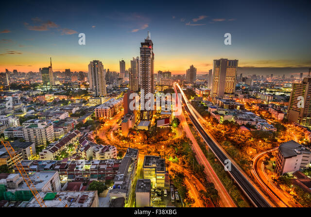 Bangkok, Thailand skyline at dawn. - Stock Image
