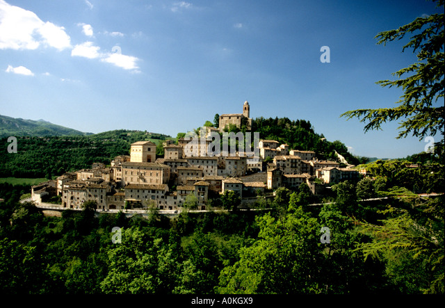 View of Montefortino ,Le  Marche, Italy - Stock Image