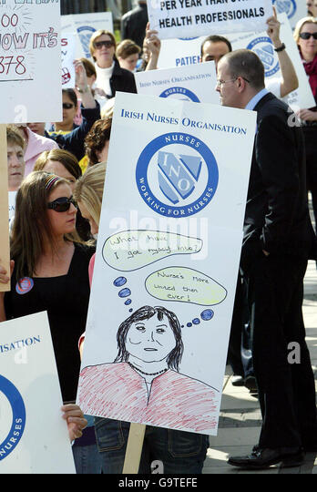 Nurses strike over pay and conditions - Stock Image