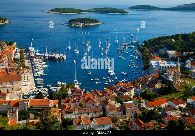 Hvar Island, Hvar City, Croatia - Stock Image
