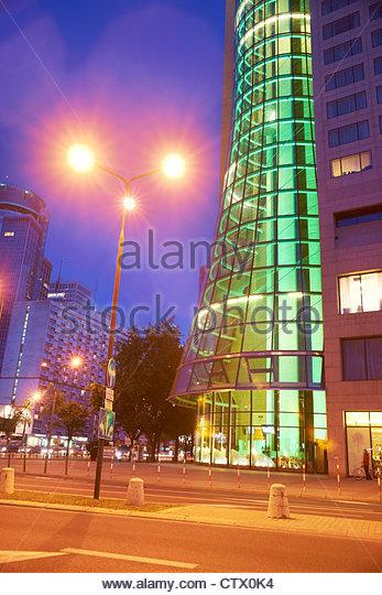 Modern center of Warsaw, Poland, Europe - Stock-Bilder