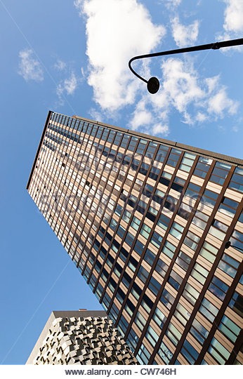 Tall building. Modern high rise tower block in Sheffield, England, UK - Stock Image