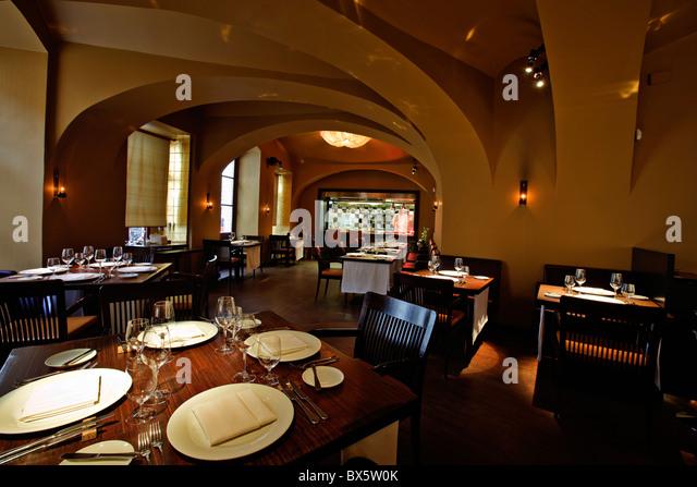 Prague, La Degustation Boheme Bourgeoise restaurant interior, Michelin star. (CTK Photo/Josef Horazny) - Stock Image