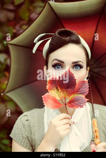 The perfect  day with my beautiful friend Ariana in autumn🍁🍂 - Stock Image