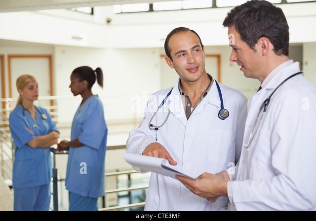 Doctors talking - Stock Image