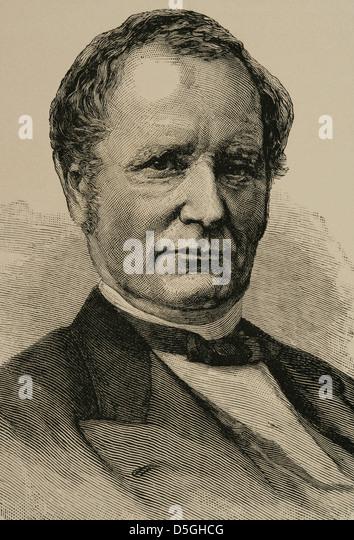 Thomas Andrews Hendricks (1819-1885). American politician. 21st US Vice president. Engraving in The Artistic Illustration, - Stock Image