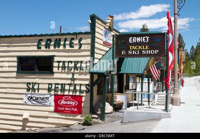 Ernies tackle and Ski Shop, June Lake in the Eastern Sierra Mountains ...