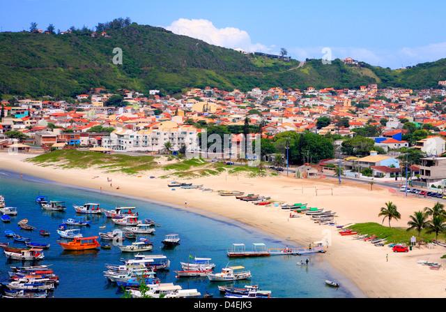 Arraial do Cabo city and beach. Rio de janeiro state, Brazil - Stock Image