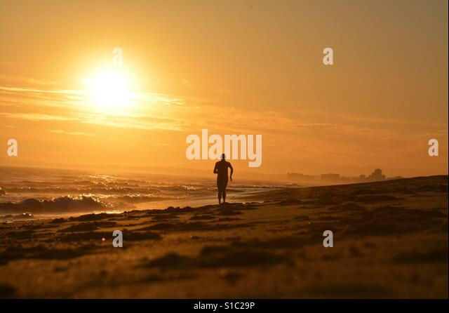 Sunset beach - Stock-Bilder