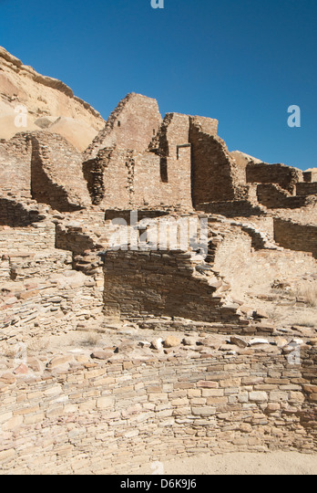 Chaco Culture National Historical Park, UNESCO World Heritage Site, New Mexico, United States of America, North - Stock-Bilder